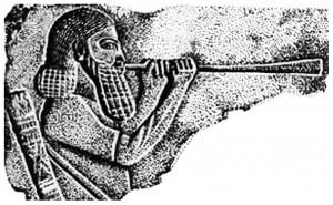 6 - Ókori asszír trombitás.