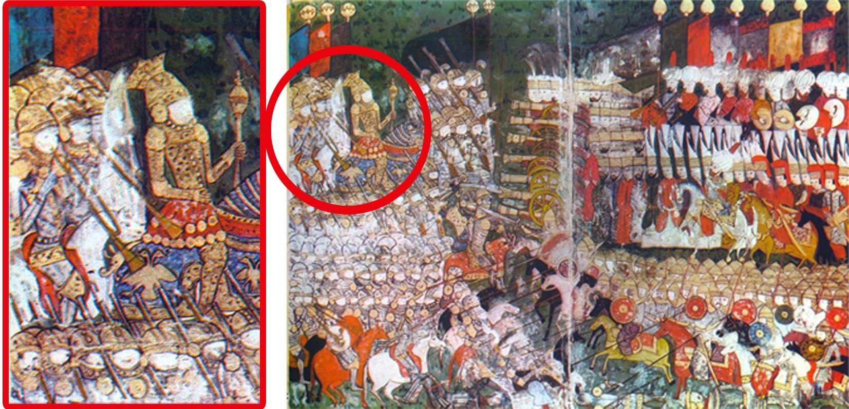 Mohácsi csata - II. Lajos magyar hadikürtösökkel,